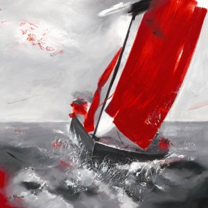 Voile rouge - 6258