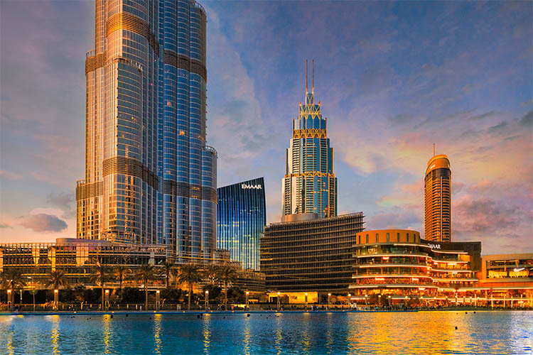 Dubai Fountain & Burj Khalifa