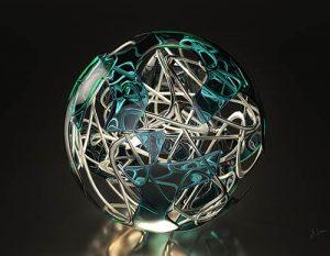 Wired Globe I - Jég Graphics