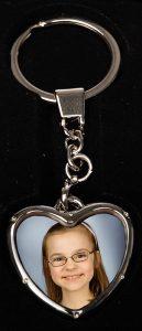 Herz- Schlüsselanhänger für Foto