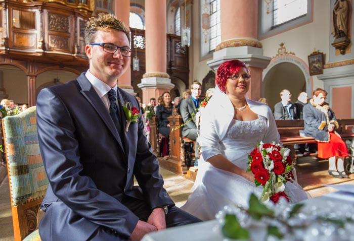 Hochzeitsfotografie - kirchliche Trauung