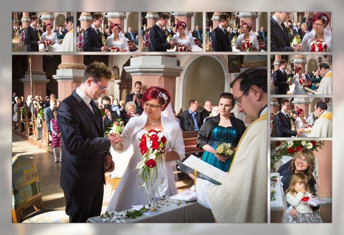 Bilder bei der kirchlichen Hochzeit