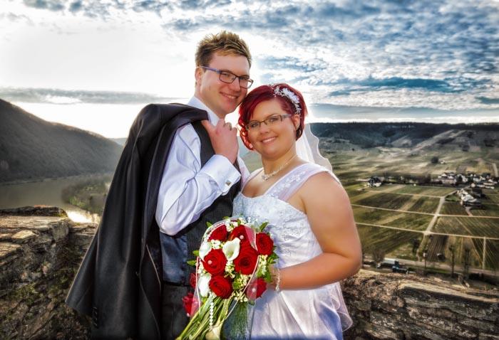 Hochzeitsshooting auf der Burg