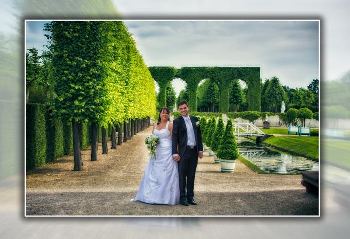 Hochzeitskuss - Fotografie im Schwetzinger-Schlossgarten