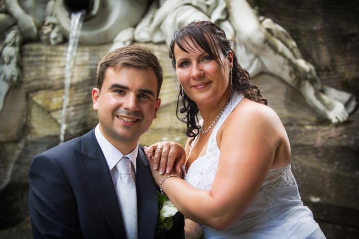 Hochzeitsfotos im Schwetzinger Schlossgarten - Apollotempel