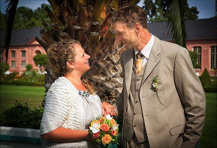 Hochzeitsfotos im Schloßgarten - Schwetzingen