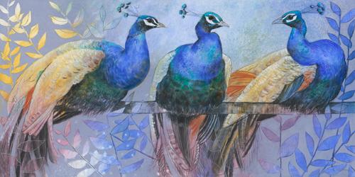 Loes Botman - Three Peacocks