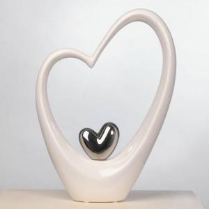 Keramik Herz Hoch