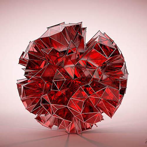 Wandbild Rot 1