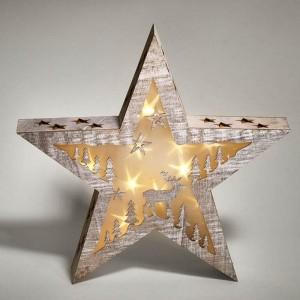 Geschenkidee - Stern mit Kerze