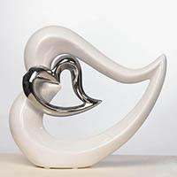 Keramik Herz - Hochzeitsdeko